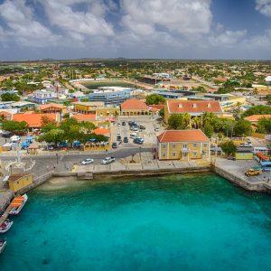 the Town of Kralendijk in Bonaire
